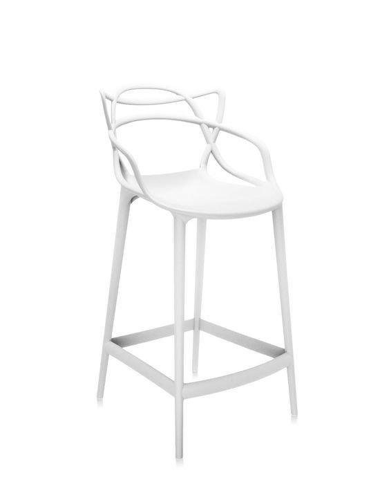 Kartell Masters barstol, hvid (høj)
