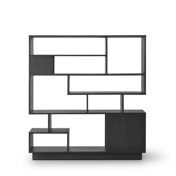 Lækker Eilersen Penthouse Reol, lav 100x106x36 cm, sort II-57