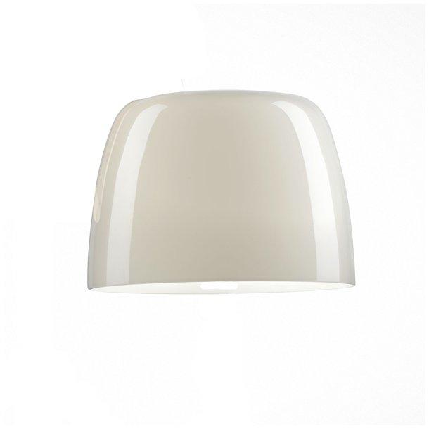Foscarini Lumiere grande hvid, blankt glasskærm