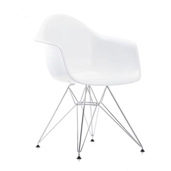 Eames Dar Stol Hvid Med Arml U00e6n Spisebordstol Klassiker Vitra
