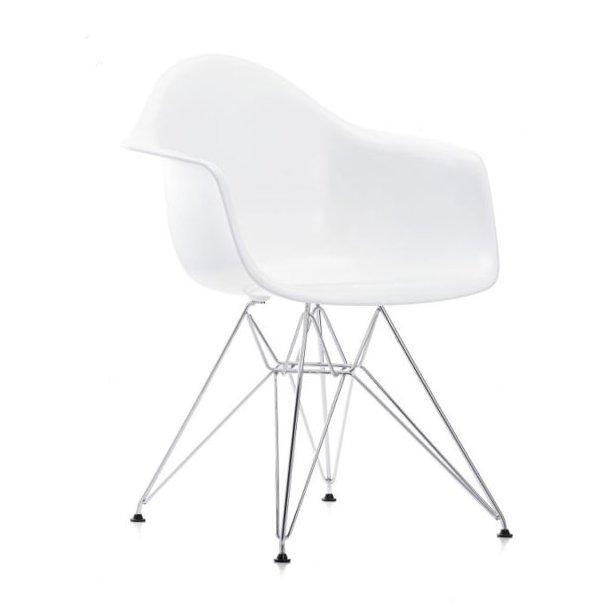 Svært Eames DAR stol hvid med armlæn - spisebordstol - klassiker - vitra KN-94