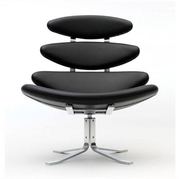 EJ 5 Corona stol sort læder