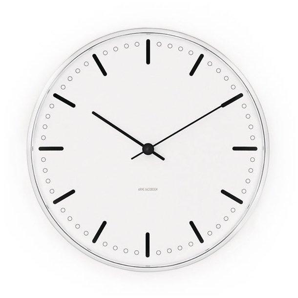 Vægur, Arne Jacobsen, City Hall Clock, 16 cm