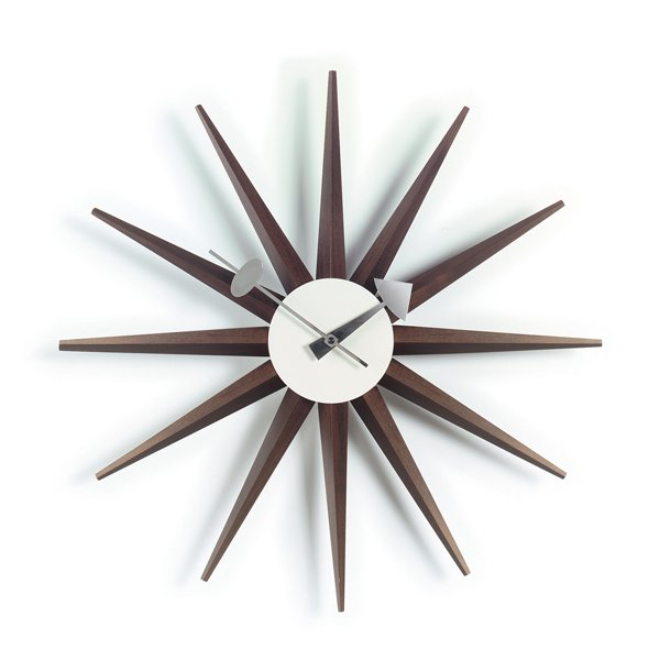 ure fra paustian sunburst clock valn d v gur. Black Bedroom Furniture Sets. Home Design Ideas